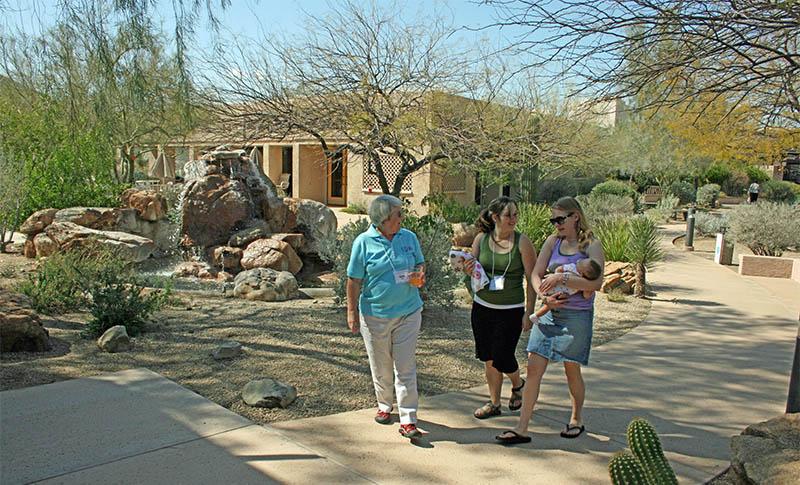 ladies walking on path at spirit in the desert