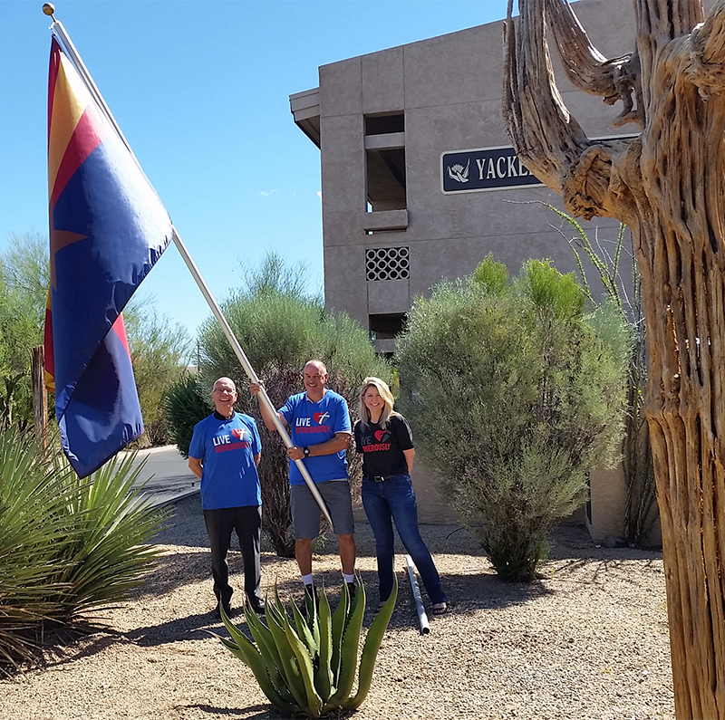 raising the arizona flag