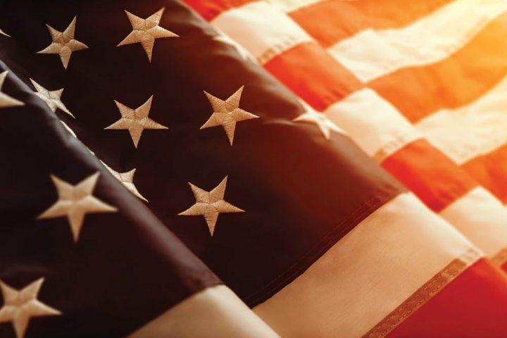 The U.S. flag illustrates the Healing of Memories workshop for Women Veterans at Spirit in the Desert