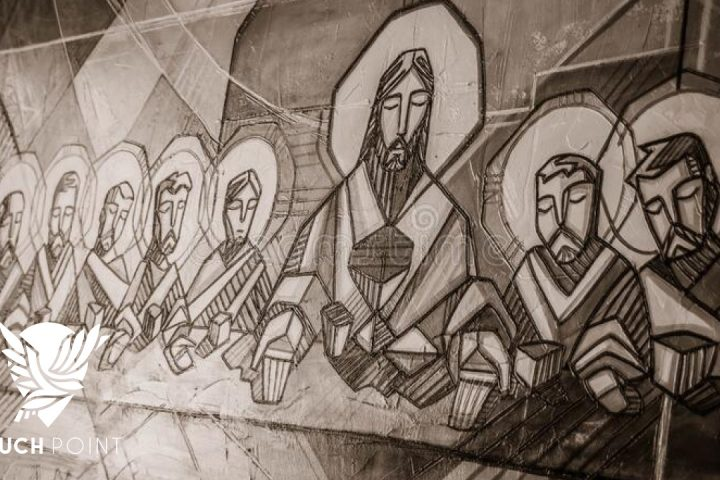 A picture of the 12 disciples to illustrate the concept This Teaching Is Difficult for Touchpoint for 8/18/21