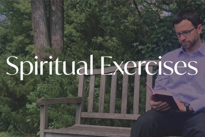 Man reading Bible illustrates Miles Christi Silent Retreat at Spirit in the Desert