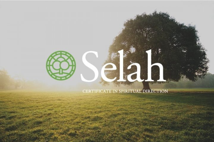 A tree in a field and the Selah logo illustrates Leadership Transformation retreat at Spirit in the Desert