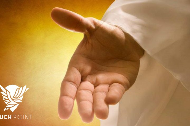 Jesus' right hand illustrates Touchpoint meditation for Wednesday, October 13, 2021